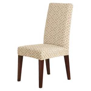fitted dining room chair covers sure fit stretch ironworks short dining room chair slipcover