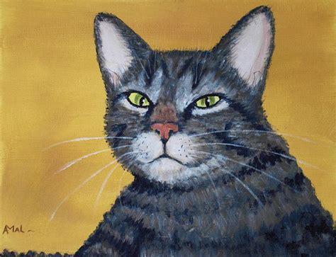 cool cat painting cool cat painting by anastasiya malakhova
