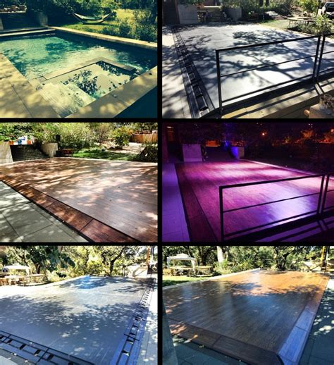 Pool Cover Floor by Plexi Glass Clear Acrylic Pool Cover Dancefloors By Stage