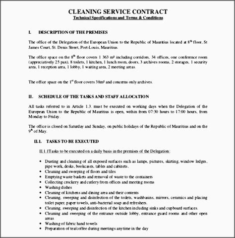 Sle Cleaning Service Agreement by Mercial Carpet Cleaning Contract Sle Carpet Vidalondon