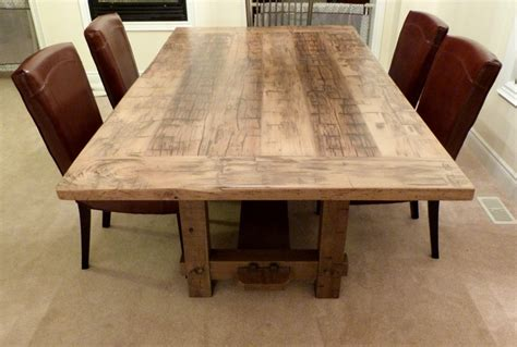 reclaimed wood dining room tables reclaimed wood dining room tables