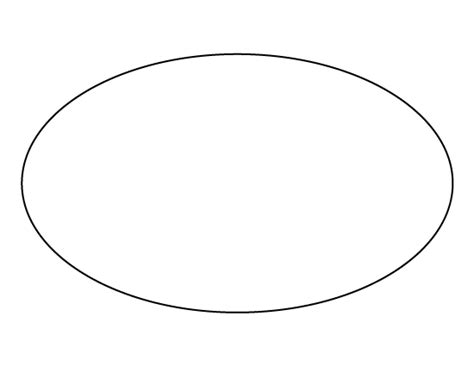 free oval template oval pattern use the printable outline for crafts