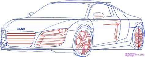 How to Draw an Audi, Step by Step, Cars, Draw Cars Online, Transportation, FREE Online Drawing
