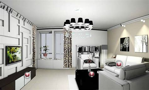 simple living room interior design 3d