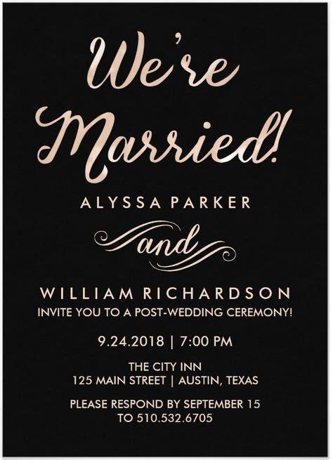 Reception Invitation by 21 Beautiful At Home Wedding Reception Invitations