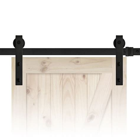 Cheap 84 Quot Sliding Barn Door Track And Hardware Kit Black Barn Door Hardware Kit Cheap