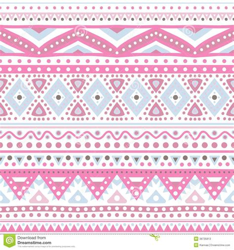 cute ethnic pattern tribal ethnic seamless stripe pattern vector illustration