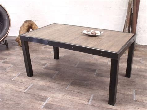 table cuisine industrielle table industrielle en bois et m 233 tal sur mesure micheli