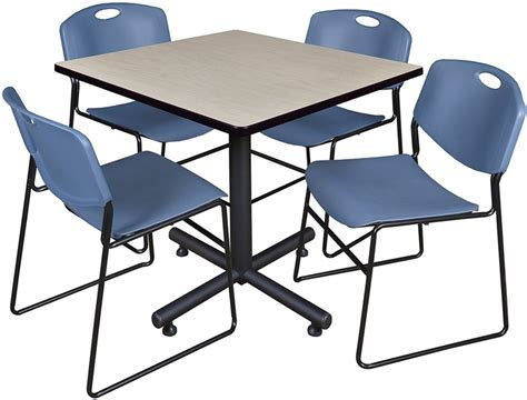 36 square laminate breakroom table with 4 zeng