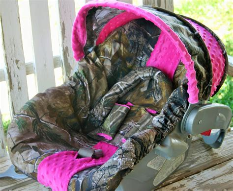 pink realtree car seat realtree camo w pink minky car seat cover and cover w