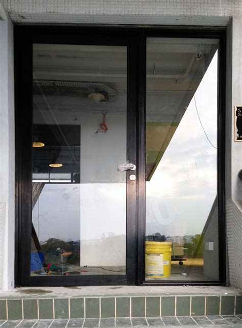 glass aluminium entrance systems from abc industrial doors