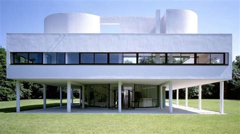 Architettura Moderna Ville by Iconic House Villa Savoye By Le Corbusier Architectural
