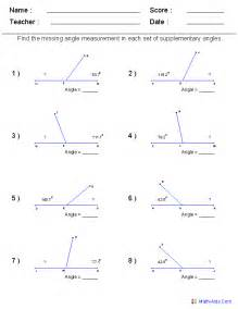 Alternate Interior Angles Postulate Geometry Worksheets Angles Worksheets For Practice And Study