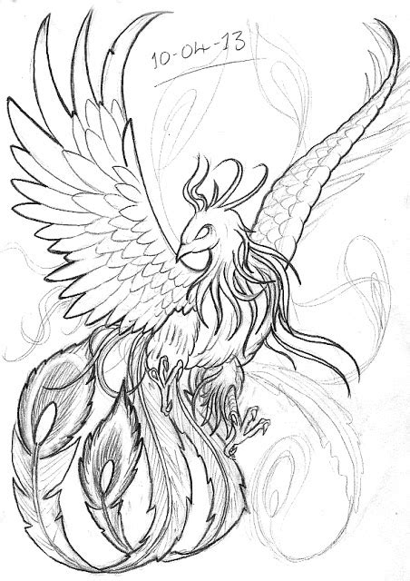 japanese phoenix tattoo sketch ideas tattoo collection