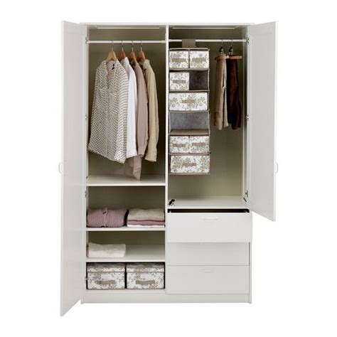 Wardrobe Shelves And Drawers by Musken Wardrobe With 2 Doors 3 Drawers White