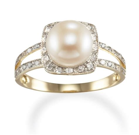 pearl engagement rings aelida