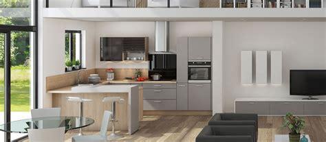 mod鑞e cuisine 駲uip馥 cuisine contemporaine en u cuisines cuisiniste aviva