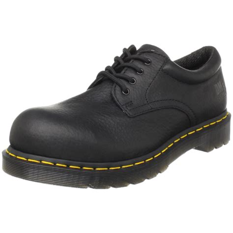 dr doc martens 13711001 black steel toe cap lace up safety