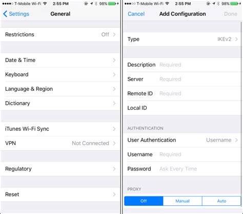 how to connect to a vpn from your iphone or