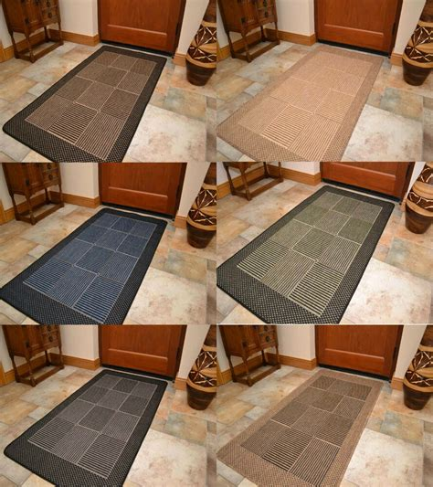 New Flat Weave Woven Rubber Backed Dining Room Kitchen