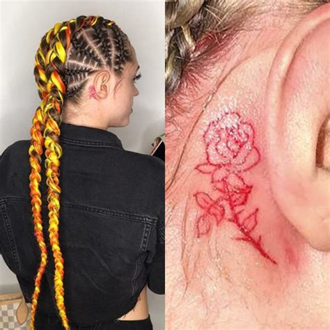 behind ear tattoo instagram woahhvicky rose behind ear tattoo steal her style