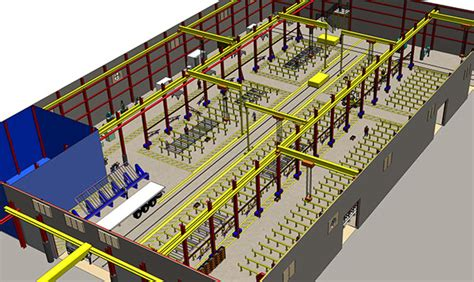 fabrication shop layout design factory planning in a 3d environment on behance