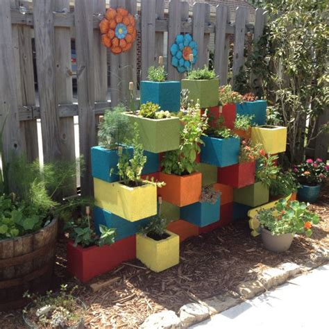 herb garden ideas pinterest our cinder block herb garden diy cement block