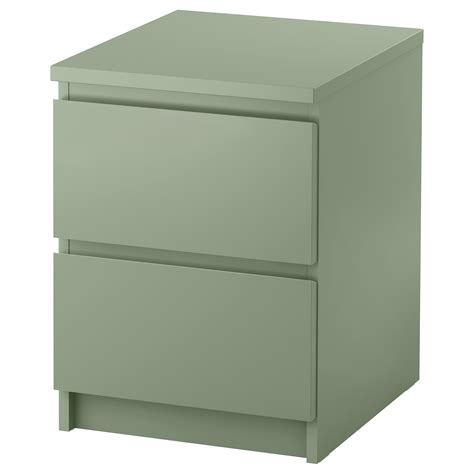 ikea chest malm chest of 2 drawers light green 40x55 cm ikea