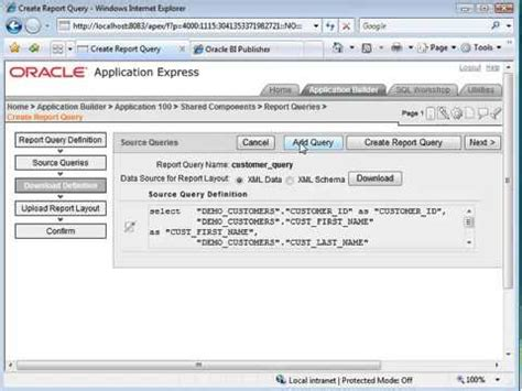 tutorial oracle bi publisher oracle apex training how to configure oracle apex with the