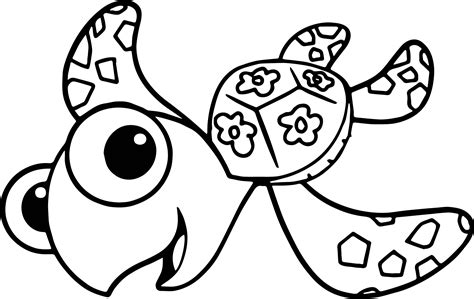 nemo squirt coloring pages disney finding nemo squirt sea turtle coloring pages