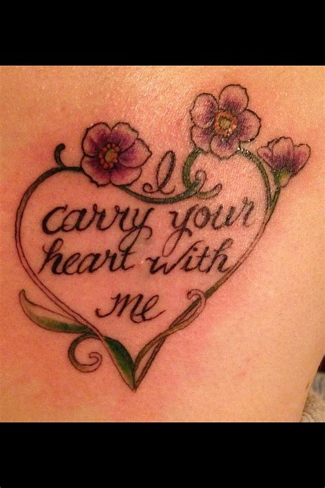 i carry your heart tattoo quot i carry your with me quot i this quote and i