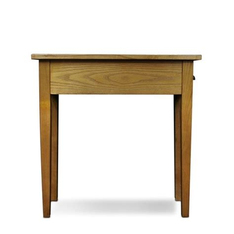 thin accent table leick furniture bin pull narrow end table in candleglow