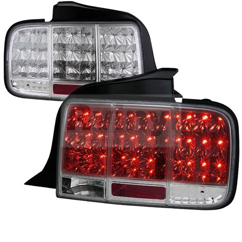 mustang tail lights 2005 spec d tuning 174 ford mustang 2005 2009 sequential chrome