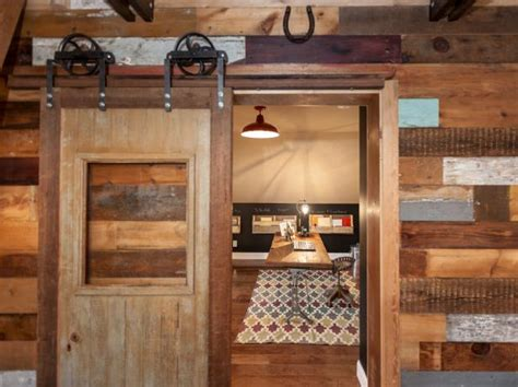 diy barn doors  add  rustic touch  home