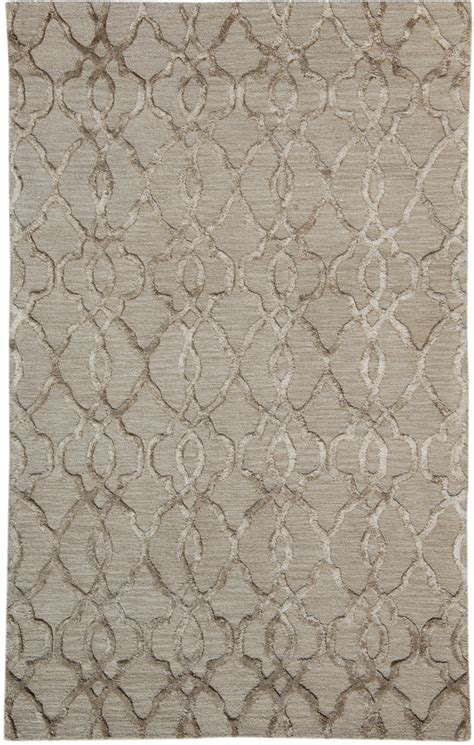 Viscose Area Rug by Raised Silver Gray Plush Viscose Wool Rug 5x8