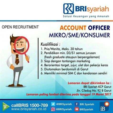 lowongan kerja pt bank brisyariah d3 s1 fresh graduate ao micro sme consumer brisyariah march 2017