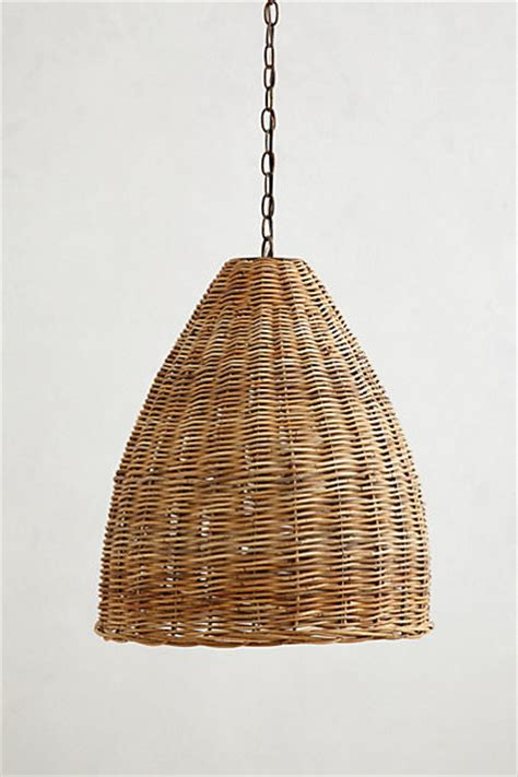 Basket Pendant Light Basket Weave Pendant L Farmhouse Pendant Lighting By Anthropologie