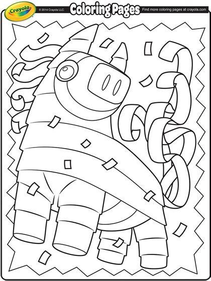 coloring pages for cinco de mayo cinco de mayo pi 241 ata coloring page crayola com