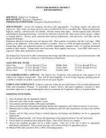 Er Technician Sle Resume by Patient Care Technician Resume Sales Technician Lewesmr