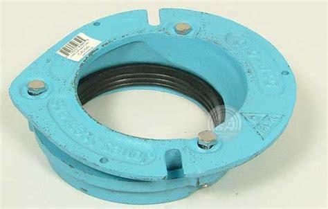 replace offset cast iron closet flange with pvc