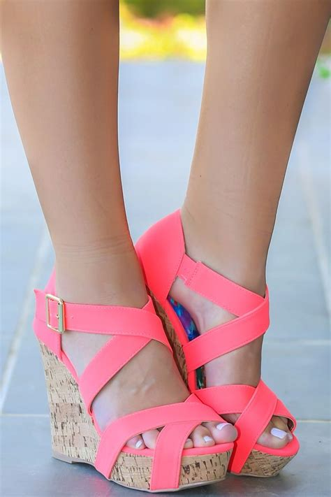 Wedges Pink 25 best ideas about pink wedges on colorful