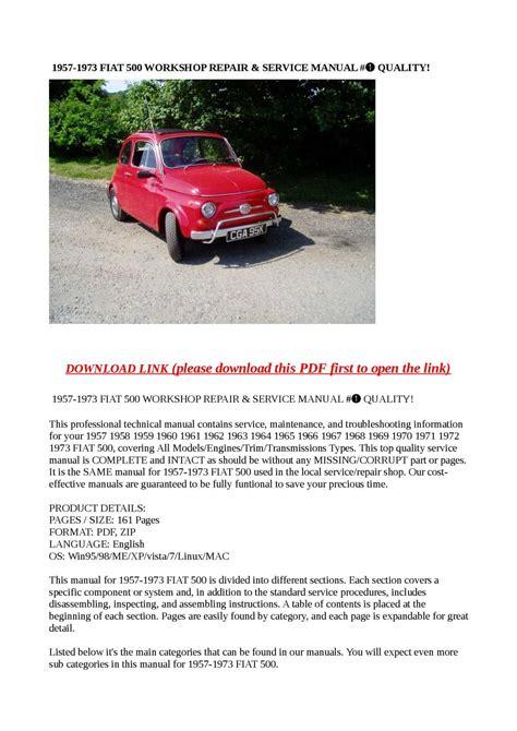 small engine repair manuals free download 1970 pontiac grand prix lane departure warning calam 233 o 1957 1973 fiat 500 workshop repair service manual quality