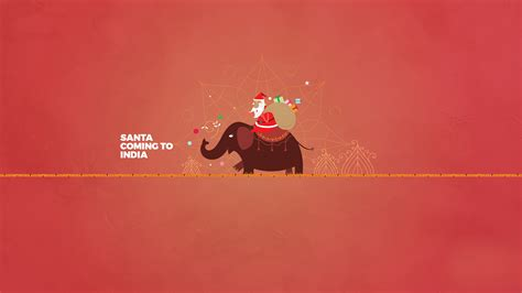 wallpaper santa claus elephant india minimal hd celebrations christmas