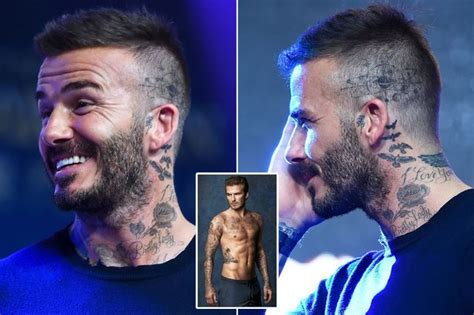 david beckhams tattoos david beckham shows new on his and it s