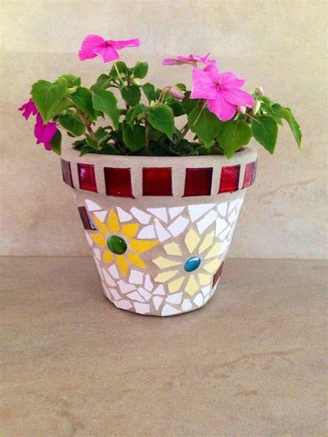 1256 best mosaic flower pots images on mosaic