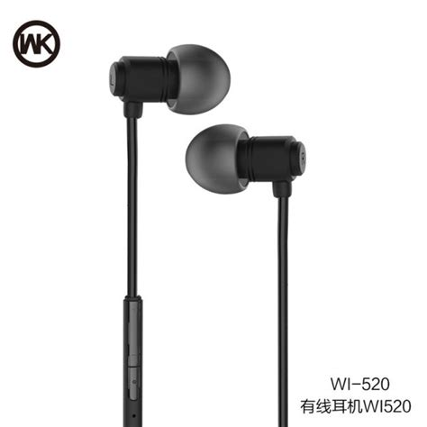 Wk Wired Earphone Wi290 wk wired stereo earphone with microphone wi520 black jakartanotebook