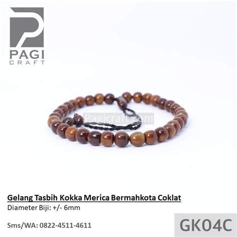 Gelang Kaukah Tasbih gelang tasbih kokka merica bermahkota coklat bersertifikat