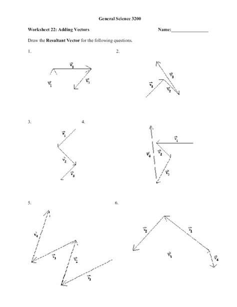 Adding Vectors Worksheet by Adding Vectors Worksheet Worksheets Releaseboard Free