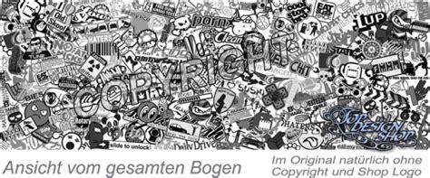 Sticker Bomb Aufkleber Einzeln by Stickerbomb Folie Auto Tuning Stickerbombing Schwarz