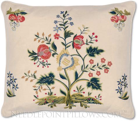 Pillow Embroidery Designs by Embroidered Pillow Interior Decorating